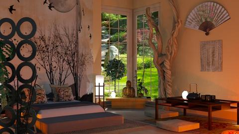 Japanese Art Home - Bedroom - by Sue Bonstra