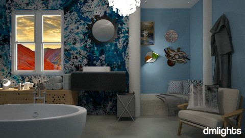 blue light - Bathroom - by DMLights-user-1347177