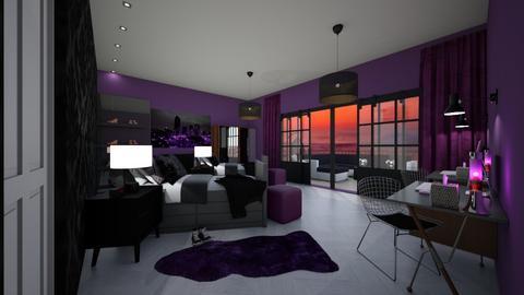 purple lovers - Bedroom - by MSK