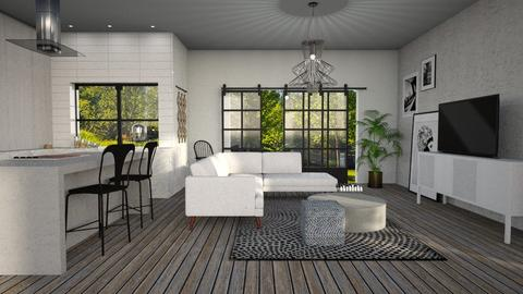 White - Modern - Living room - by tolo13lolo