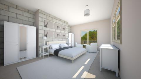 parents bedroom - Bedroom - by Julia Czeko Zienkiewicz