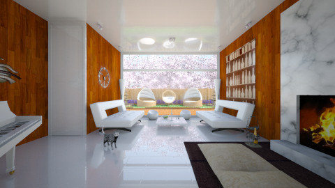 WhiteWood Living Room - Minimal - Living room - by Tuubz