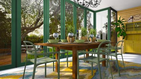 green dining - Dining room - by cp_interiors
