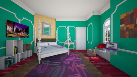 samanthas room - Feminine - Bedroom - by mrrhoads23