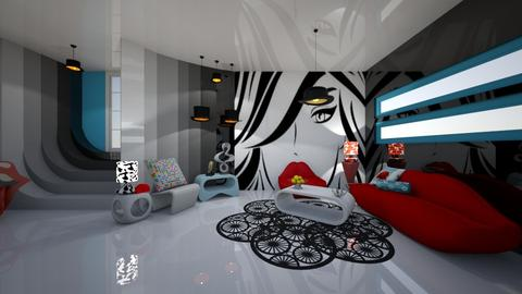 Pop Art Living - Retro - Living room - by Amonthea