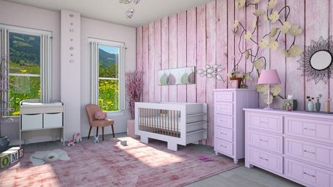 pink and gray - Kids room - by straley123456