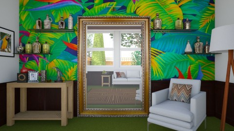reflected tropical - Eclectic - Living room - by donella