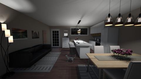 Underground Lodge - Modern - Living room - by zaktim