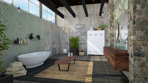 Bedroom Suite Bath - Eclectic - Bathroom - by evahassing