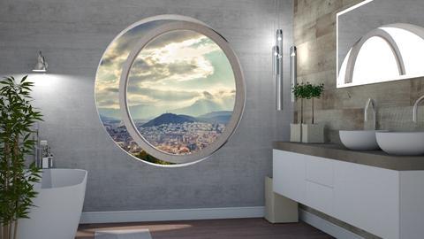 Round windows - Bathroom - by jarkaD
