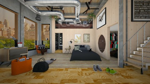 loft bedroom - Modern - Bedroom - by sometimes i am here