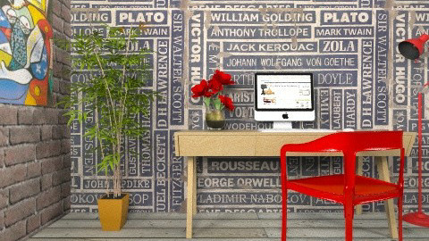 Paperless Library - Eclectic - by Theadora