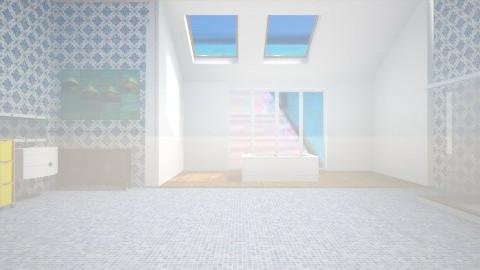 blue - Country - Bathroom - by Karine Hakobayan