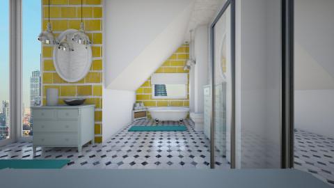 Reflection - Retro - Bathroom - by Lucii