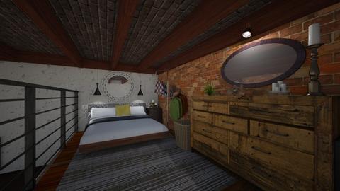 loft bedroom - Bedroom - by akaram