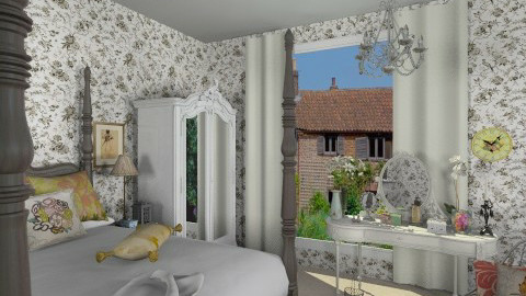 french inspired room - Bedroom - by russian wolf