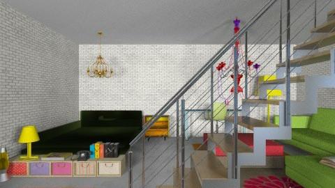 Basement Bedroom - Retro - Bedroom - by mpy1999