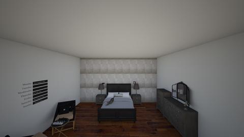Black Modern Bedroom - by ItzKiKi
