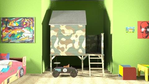 Boys Green Room - Minimal - Kids room - by TheAlgonaGirl