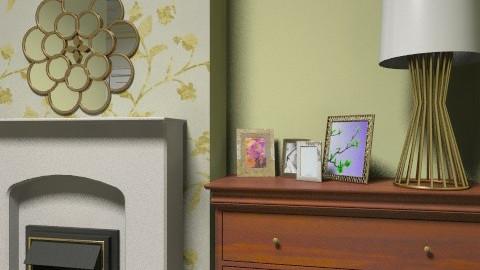 Green Bedroom - Classic - Bedroom - by cassiemc
