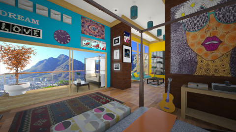 vibes of the hippie - Eclectic - Bedroom - by Nhezi