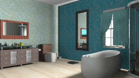 bathroom 2 - Modern - Bathroom - by tamyres