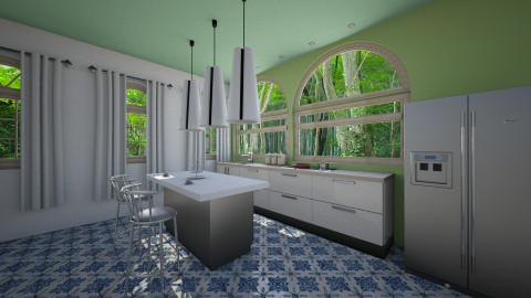 Yellow Green Kitchen - Kitchen - by mian_143
