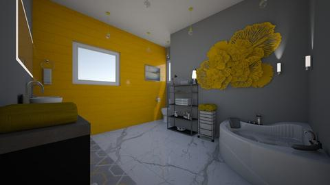 Yellow Bathroom Contest - Bathroom - by Kendradanielle5000