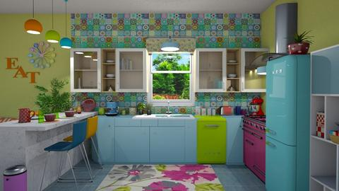 Modern Playful Kitchen - Kitchen - by  krc60