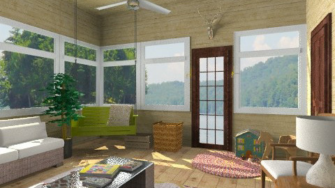 wood cabin porch - by ocbruner