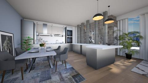 open space - Kitchen - by heddam2508