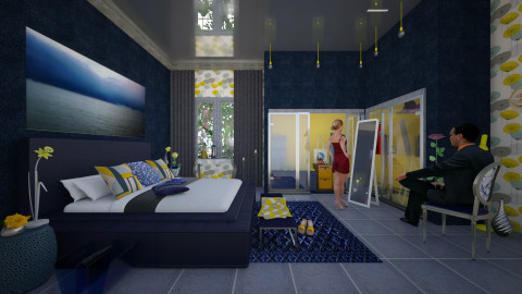 blue and yellow romantic - Eclectic - by Ida Dzanovic