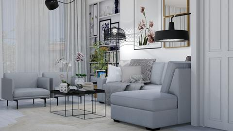 Template room  - Living room - by sara andrade
