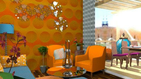 LIVING ROOM REDO - Retro - Living room - by natural11