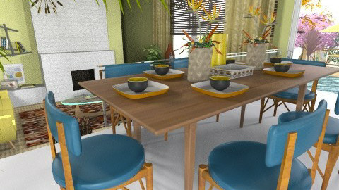 60s Apartment - Retro - Living room - by Eve1yn