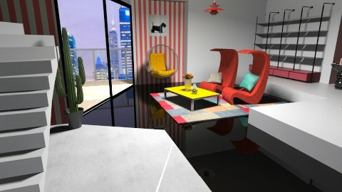 Memphis - Glamour - Living room - by Valentina Cremonini