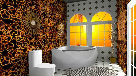 Golden Indulgence - Glamour - Bathroom - by Hanieke