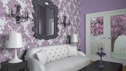 small purple living room - Vintage - Living room - by elliefant