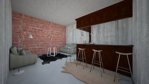 A Modern Home Bar - by Turquoise_Penquin