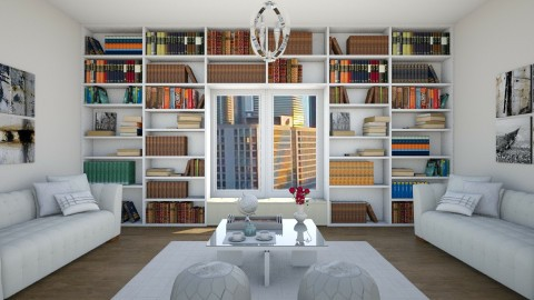 White Symmetry - Living room - by ANM_975