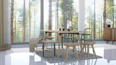 A house in the forest - Modern - Dining room - by HenkRetro1960