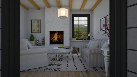 Country cottage - Living room - by Tuitsi