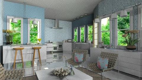 Ice Blue Kitchen - Vintage - Kitchen - by bia_freitas
