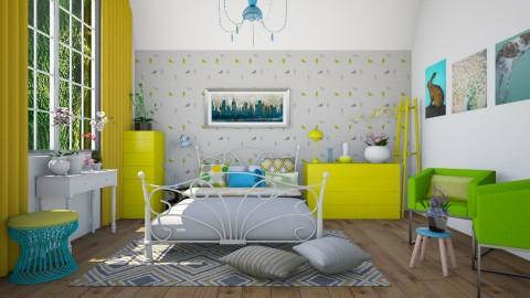 Fresh - Vintage - Bedroom - by Liu Kovac