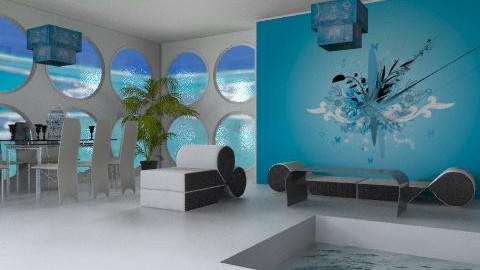 dining blue - Modern - Dining room - by ana2000