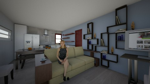 Apartment Great Room 1b - Living room - by fiveburkes