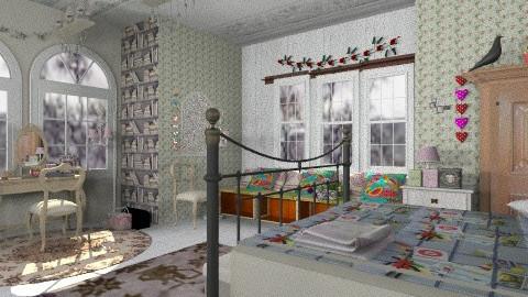Austrian Folk Bedroom - Rustic - Bedroom - by Interiors by Elaine