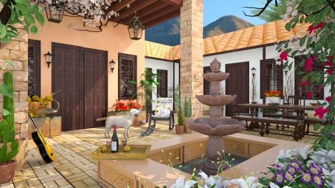 Design 252 Arizona Hacienda - Garden - by Daisy320