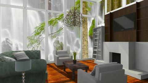 the glass room - Retro - Living room - by dezhero