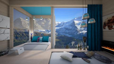 hotel top of alps - Bedroom - by norcska